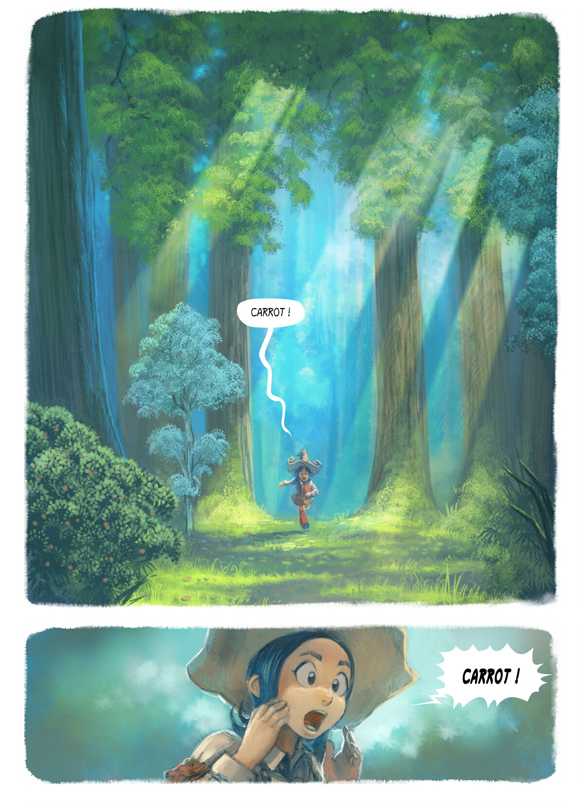 A webcomic page of Pepper&Carrot, episode 1 , page 1