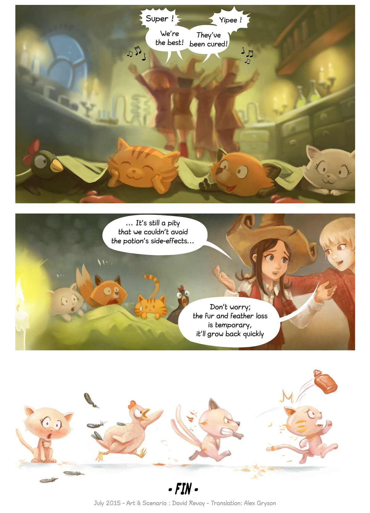 A webcomic page of Pepper&Carrot, episode 7 , page 7