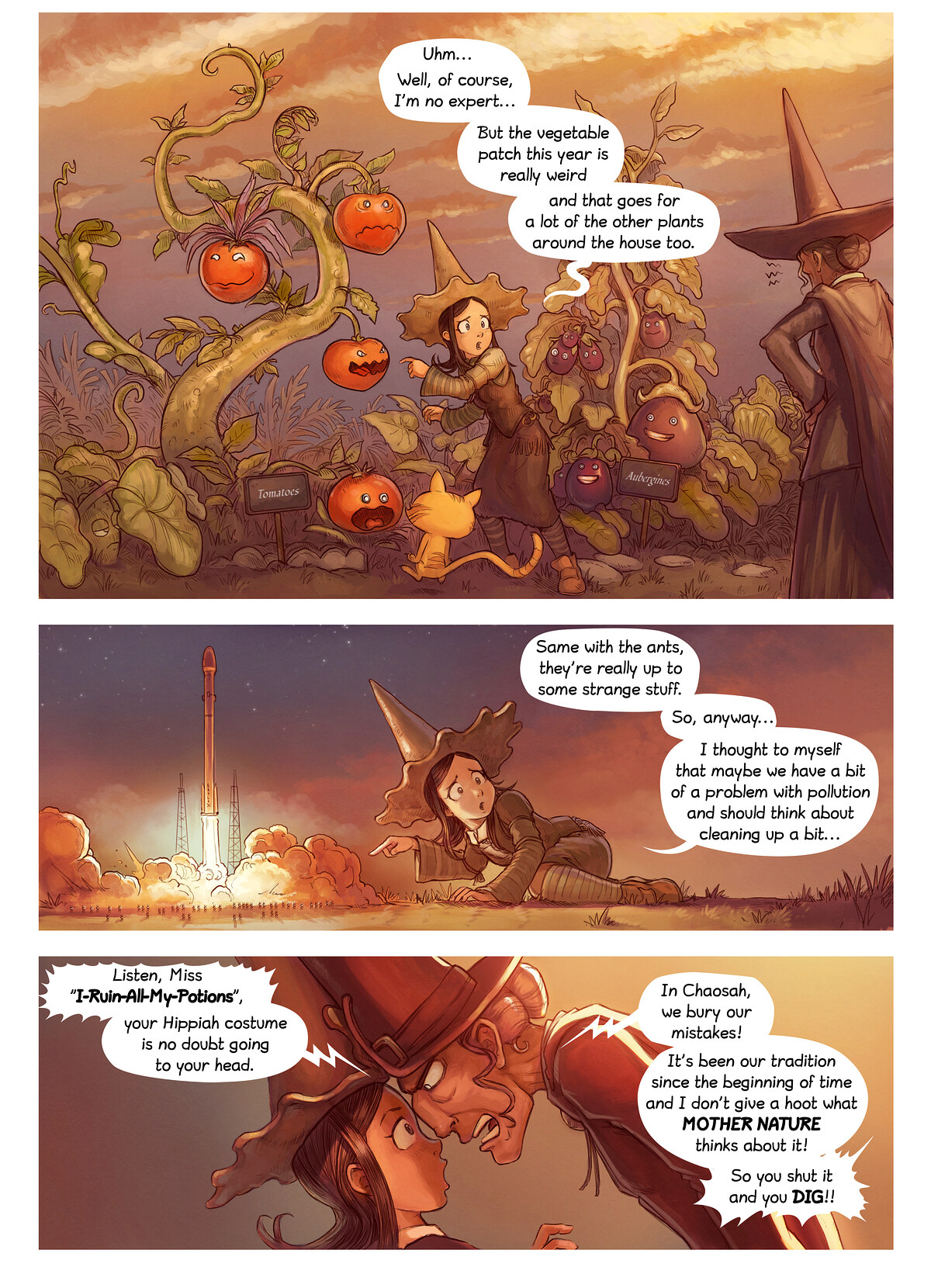 A webcomic page of Pepper&Carrot, episode 2 , page 2